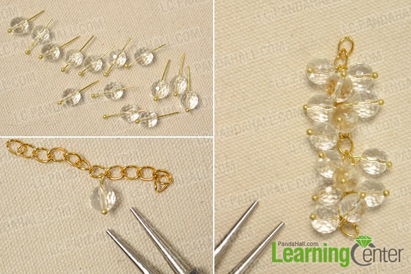 make the first part of the gemstone beaded bracelet