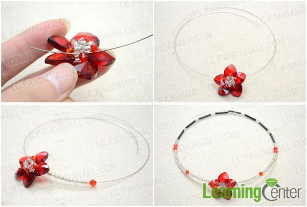 Make the memory wire necklace