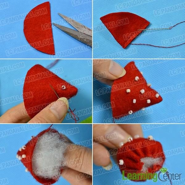 Instructions on How to Make Felt Strawberry Home Décor for