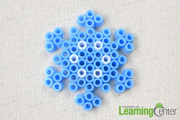Finish perler bead snowflake patterns