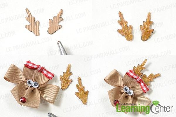 add reindeer antlers and platinum hair clip