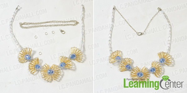 connect the two ends of the flower necklace together