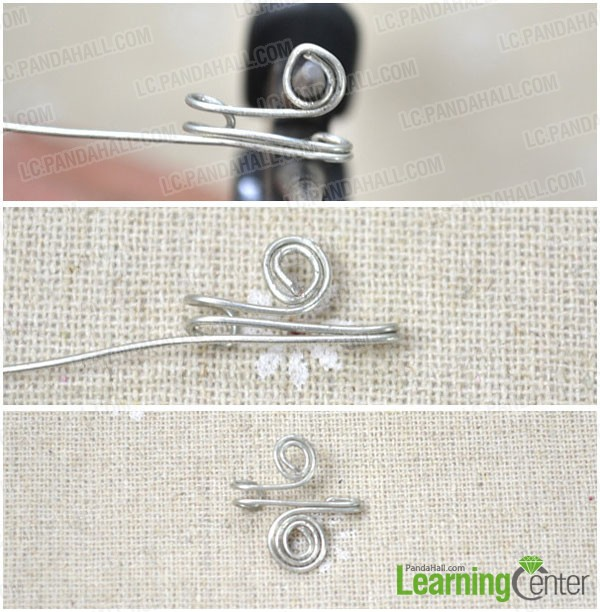 roll the two working ends to finish making the ear cuff