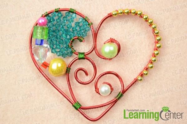 make double heart pendant