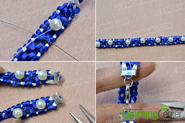 make the rest part of the blue nylon thread friendship bracelet