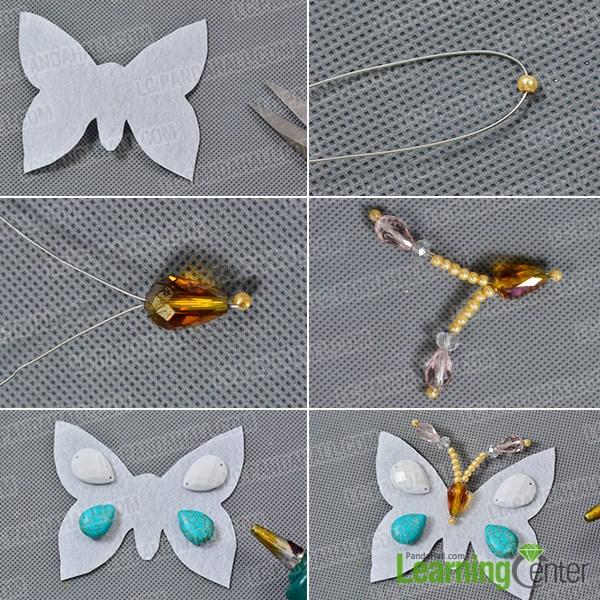 Make a basic butterfly pattern