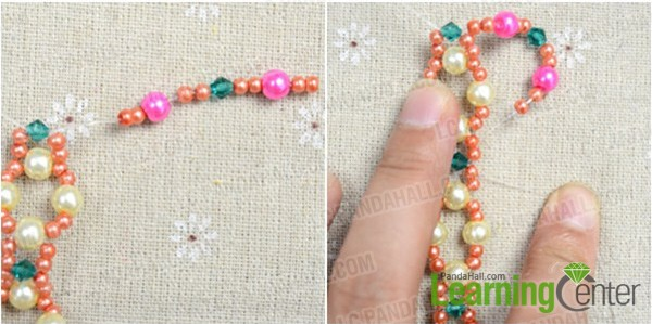 add beads in upward side and downward side 1st