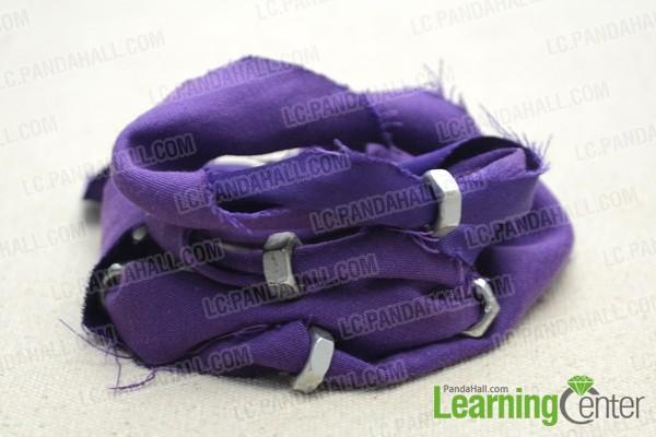 recycled DIY hex nut bracelet