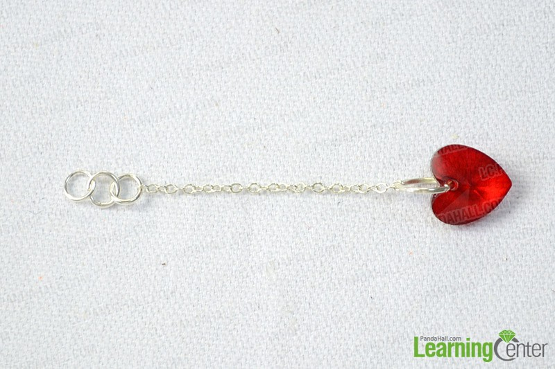 steps to make red bead mobile chain