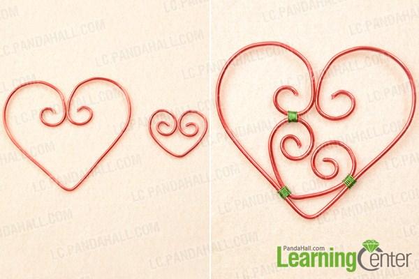 Make basic double heart pendant