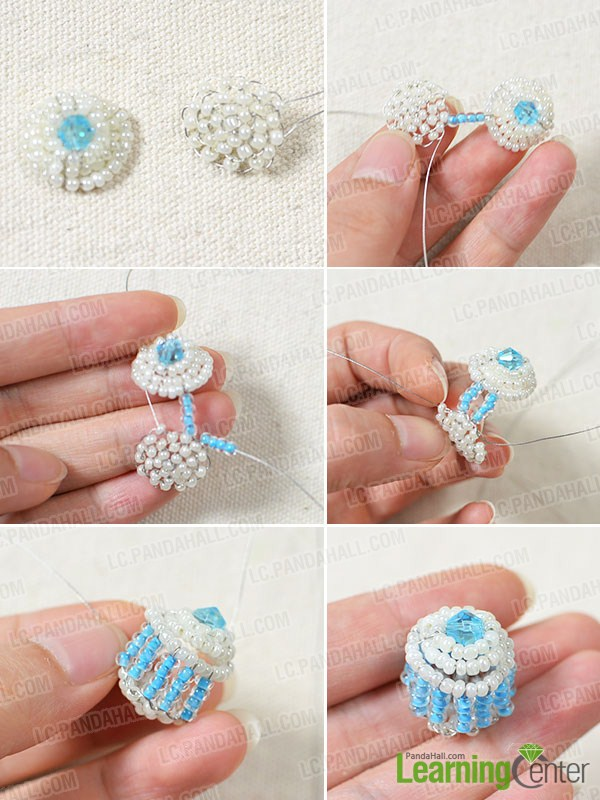 How to Make a Blue Cupcake Bead Keychain with Seed Beads and Glass ... 232b389f34f0