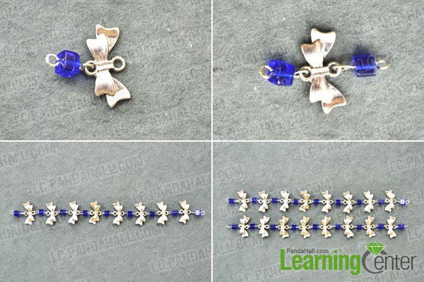 Make the chains for sapphire lotus flower necklaces