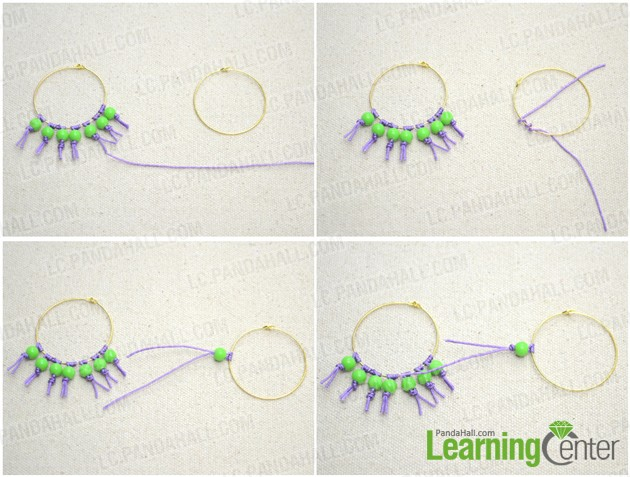 make the bead and string fringe