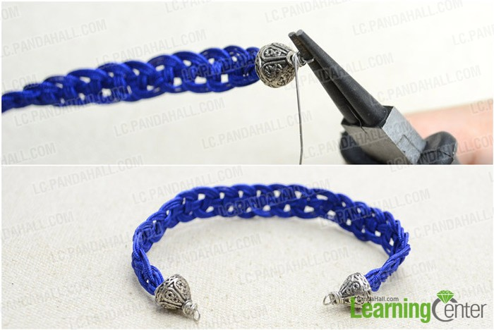 Step 2: Finish braided bracelet