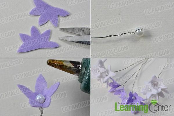 make the third part of the felt carnation flower bouquet