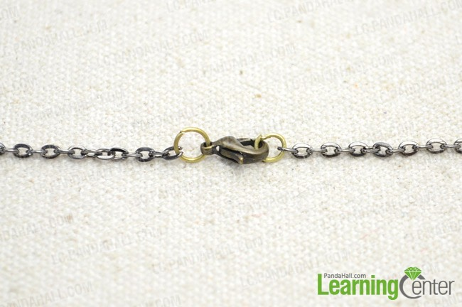 Step 3: attach clasp to the necklace