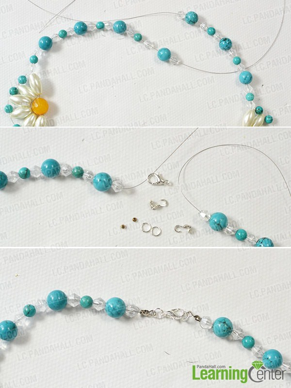 Pandahall Tutorial - How to DIY a Flower Choker Necklace Step by ...