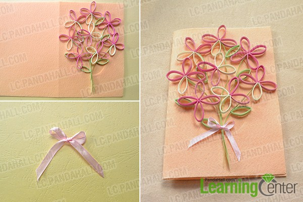 make the rest part of the tree quilling paper greeting card