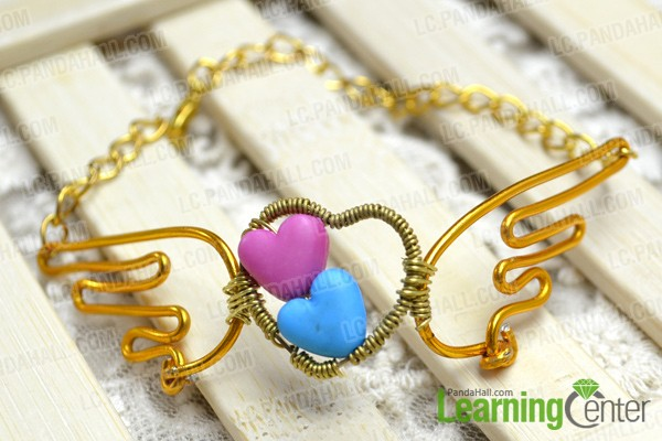 a brand new angel wings bracelet