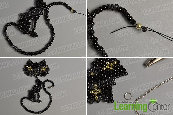 Make the seventh part of the lovely cat pendant necklace