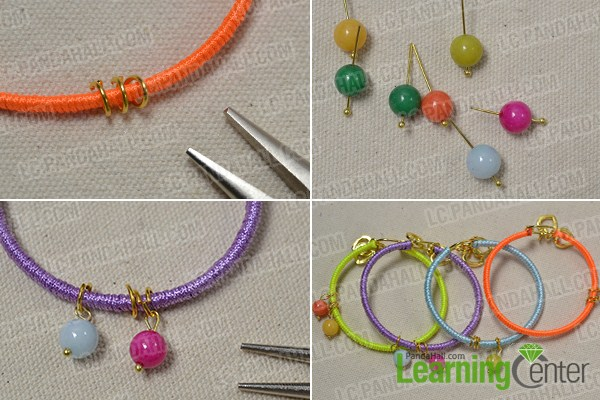 add jade beads to the 4 color cord friendship bracelets