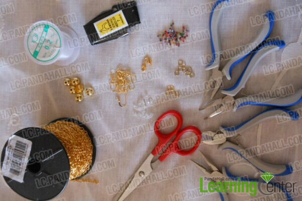 materials needed in handcrafting chain and bead jewelry