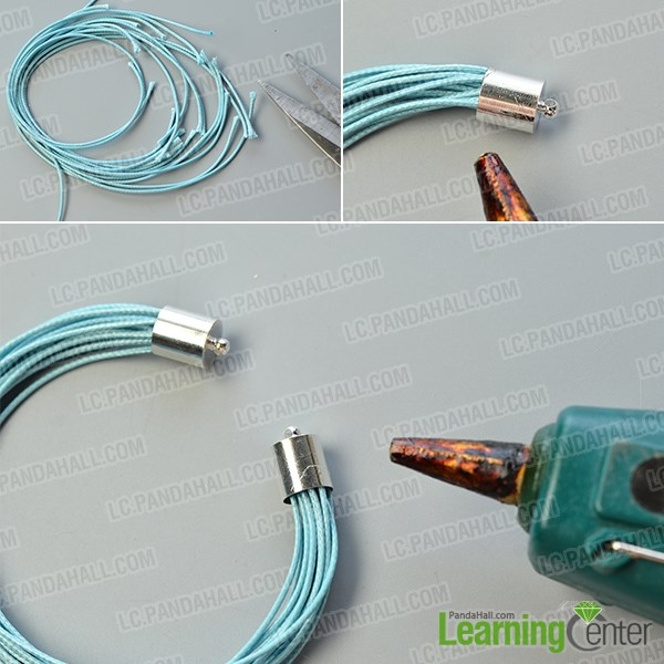 prepare multi strands waxed cord part