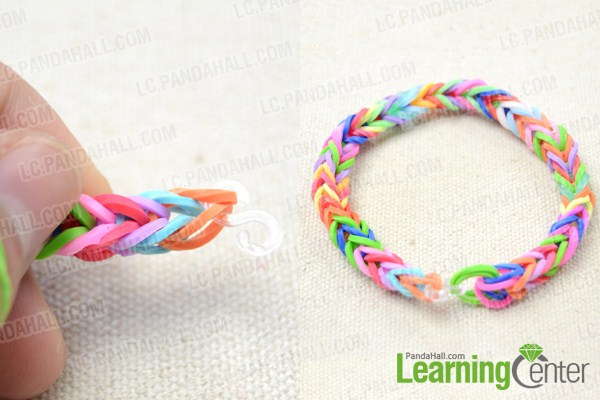 How to make a fishtail loom bracelet step by step