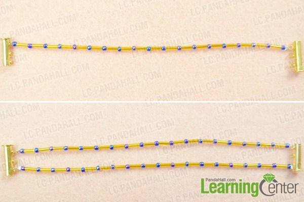 finish basic bugle bead bracelet patterns