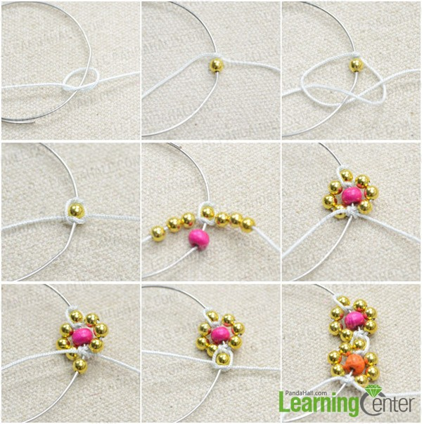 Step 2: Braid flower pattern