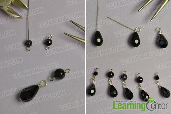 Make several bead drop patterns