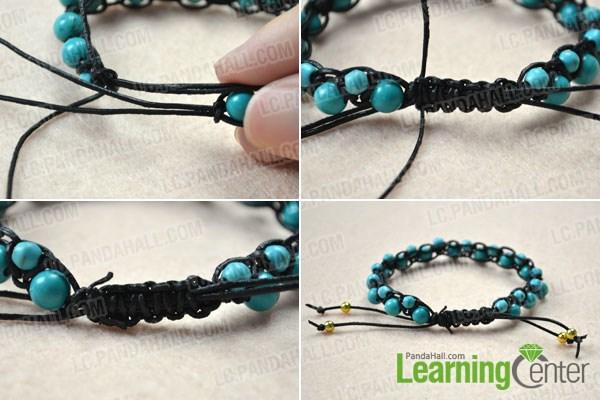 Finish DIY best friend leather bracelets
