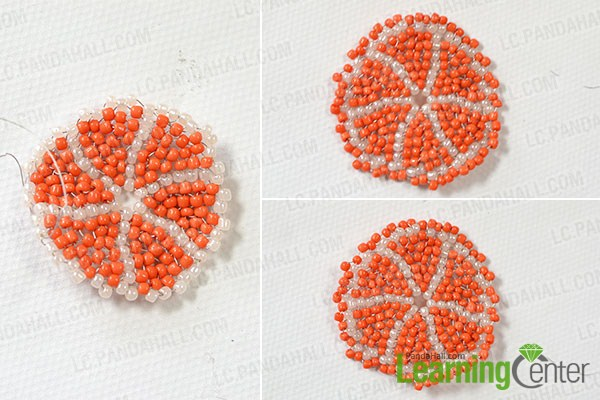 make the rest layers of the bead pattern3