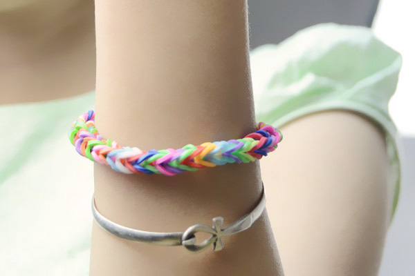Colorful Fishtail Rubber Band Bracelet