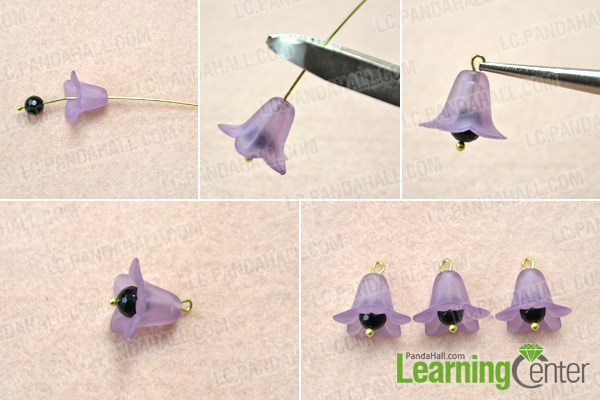 Make Flower Dangles For The Brooch Pin