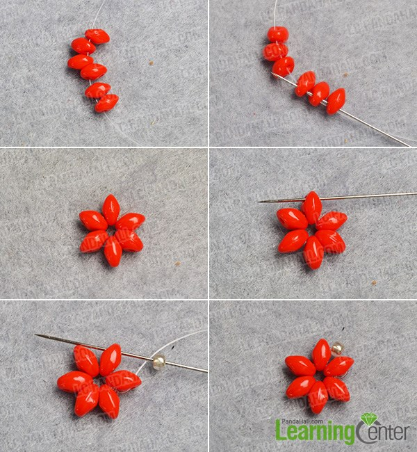 Make a seed bead flower pattern