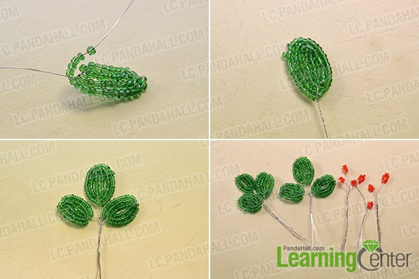4th make some red seed beads ornament by add red seed beads on copper wire and twist them. & Home Décor Ideas on How to Make Simple Seed Beads Flower Vase ...