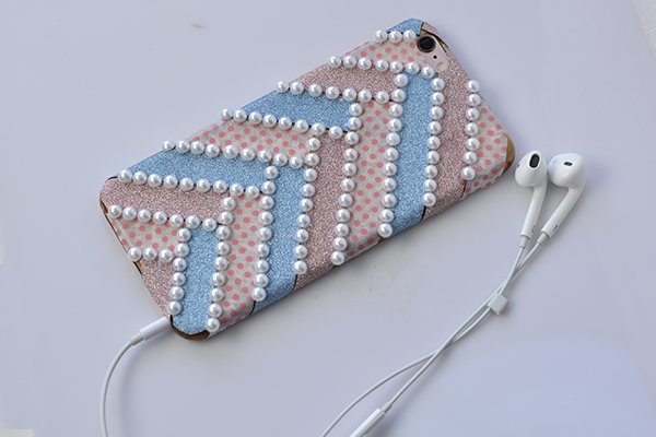 final look of the washi tape phone case