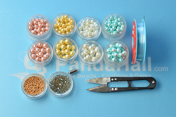 Supplies for the pearl bead necklace