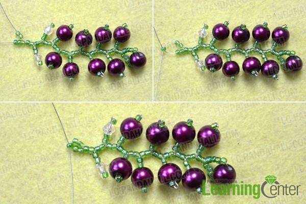 Finish the beautiful beaded earrings design
