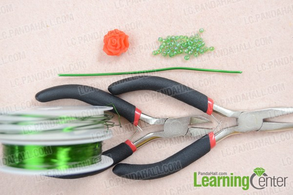 Materials on how to make a wire ring with beads