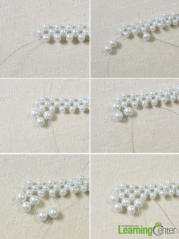 How to Make a Bridal White Pearl Bead Statement Necklace ...