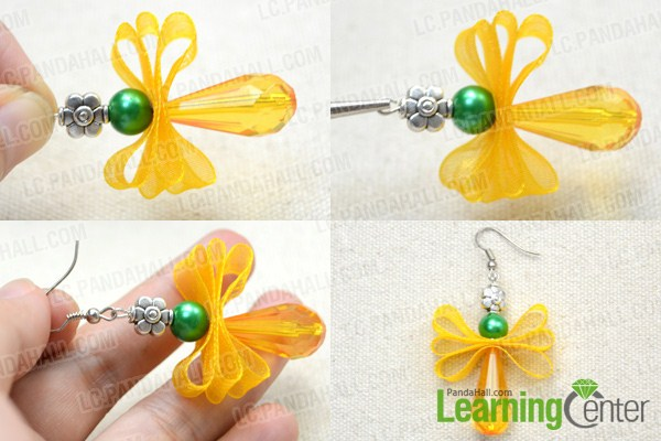 Instruction on how to make angel earrings