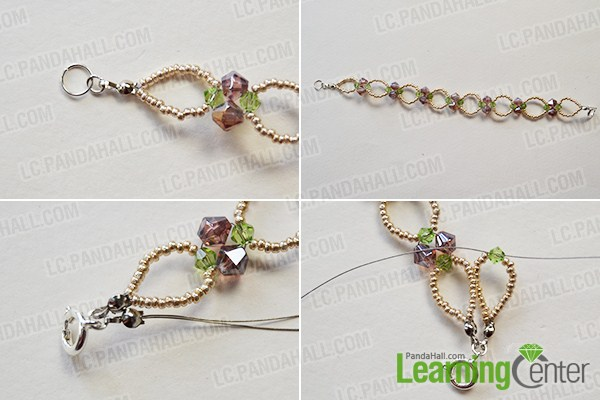make the second part of the seed and glass bead flower bracelet