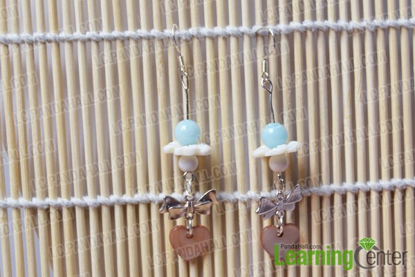 finished simple beaded dangle earrings