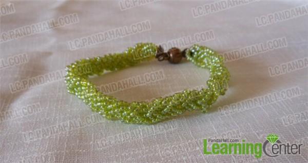 finished 3-strand braided bracelet