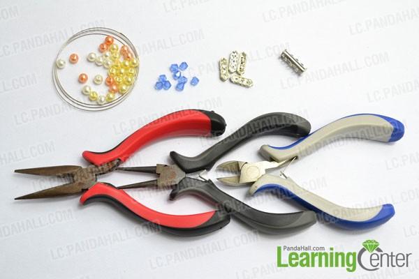materials needed in make multi strand pearl bracelet