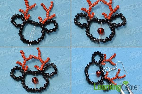 Finish the beaded elk earrings