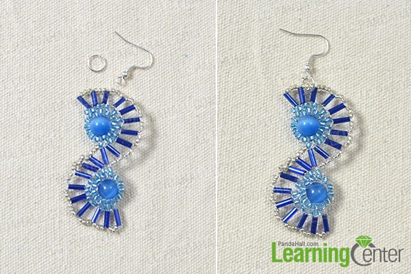 add another bead flower and earring hook