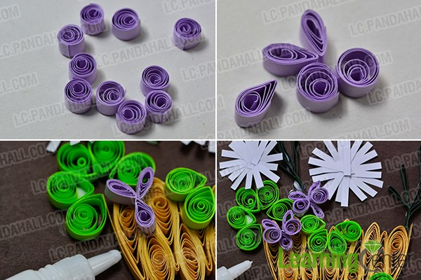 How To Make A Quilling Flower Basket : How to make a beautiful quilling paper flower basket for